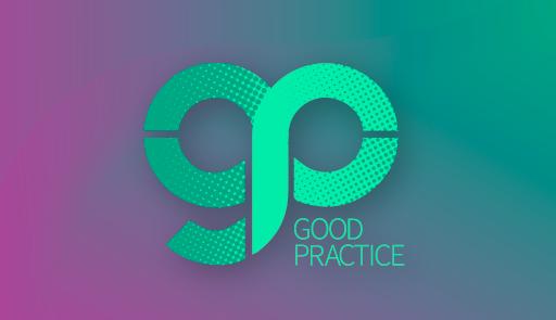 logo GP su sfondo colorato
