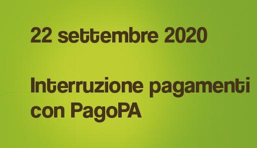 22 settembre 2020 Interruzione pagamento con PagoPA