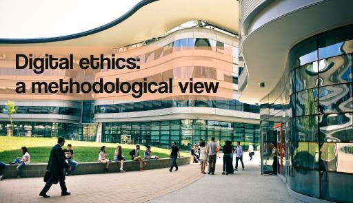 Il CLE sullo sfondo con scritta DIGITAL ETHICS