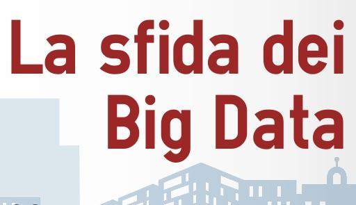 """Scritta in rosso """"La sfida dei big data"""""""