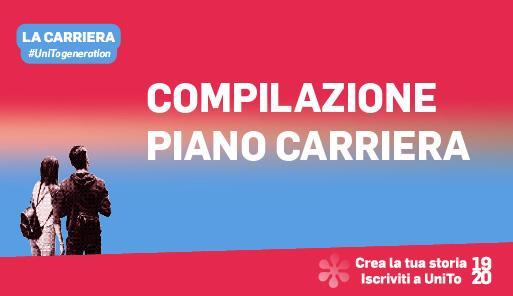 Grafica della campagna immatricolazioni 19-20 con scritta PIANO CARRIERA