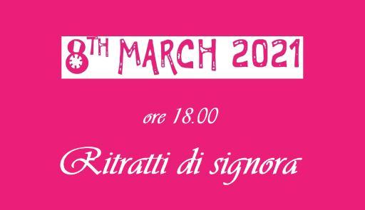 data e titolo dell'evento su sfondo colorato, stessa grafica usata per Just The Woman I Am 2021