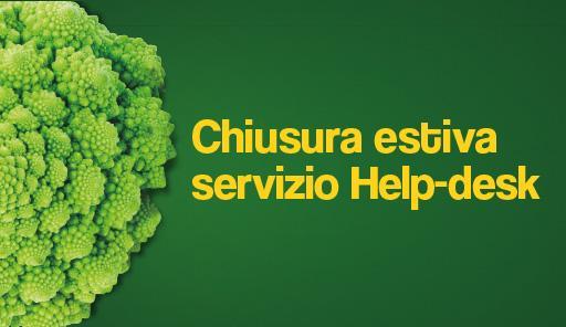 broccolo con frase: chiusura estiva servizio di Help-desk