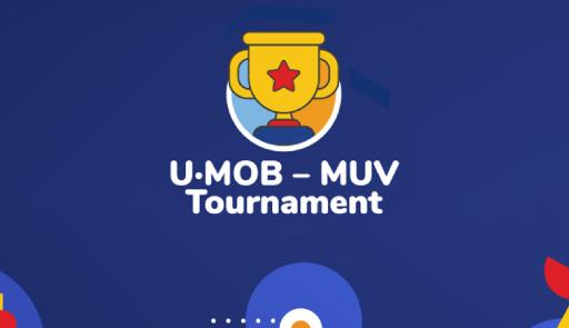 logo dell'evento su sfondo colorato