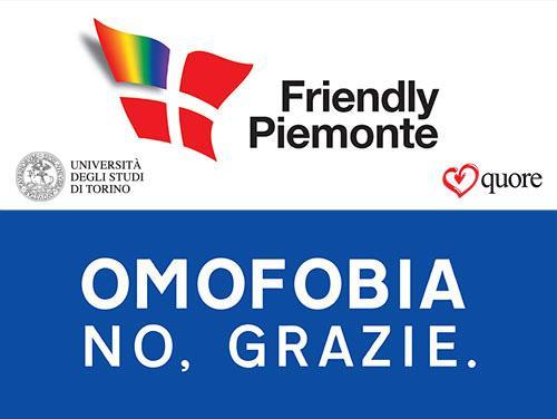 Locandina campagna sensibilizzazione Omofobia.No grazie