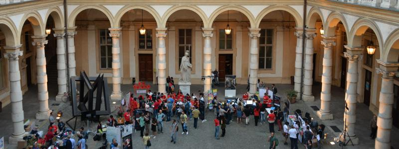 Evento nel cortile del Palazzo del Rettorato per la Notte dei ricercatori