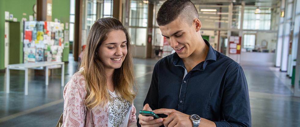 Due studenti a Palazzo Nuovo