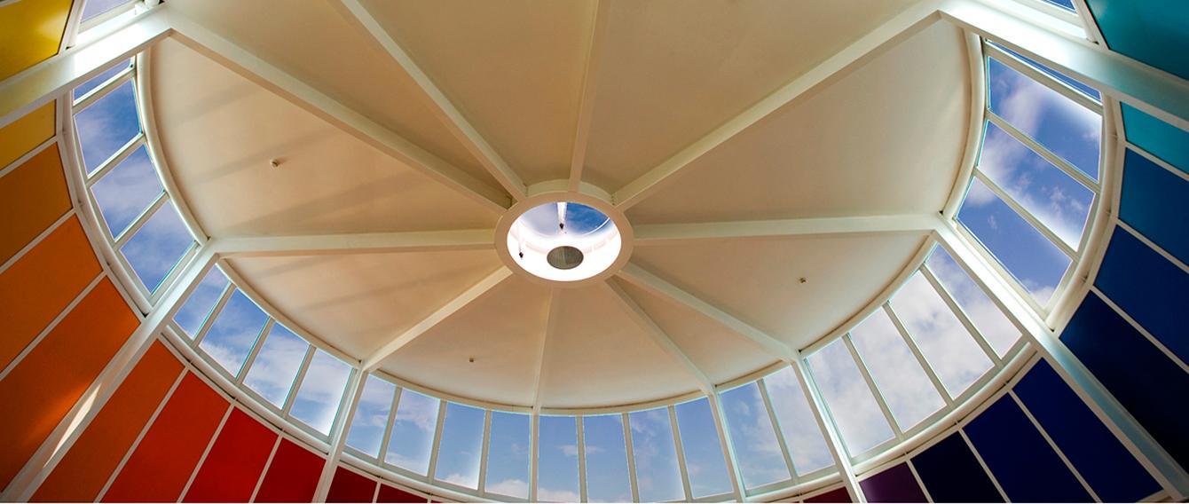 Interno della cupola della sede di Medicina San Luigi di Orbassano