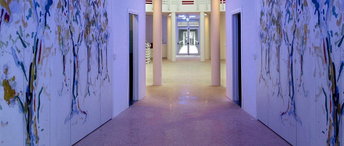 Installazione luminosa presso la sede del San Luigi di Orbassano