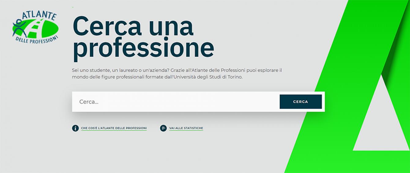 Immagine della nuova home page del sito di Atlante delle Professioni