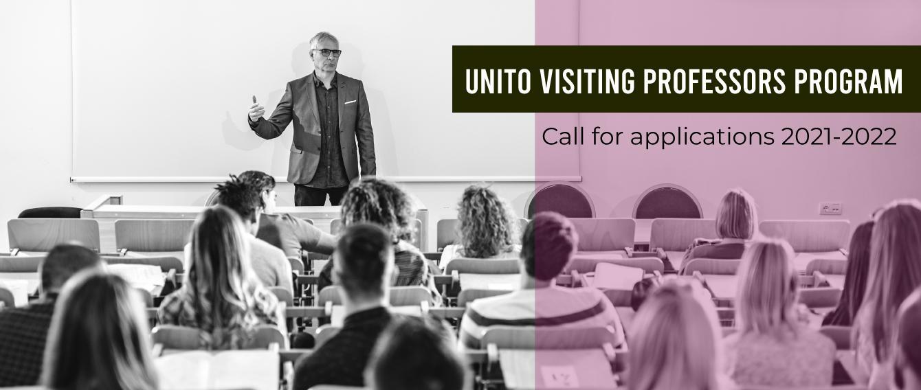 """Docente a lezione e testo """"UniTO Visiting Professors Program"""""""