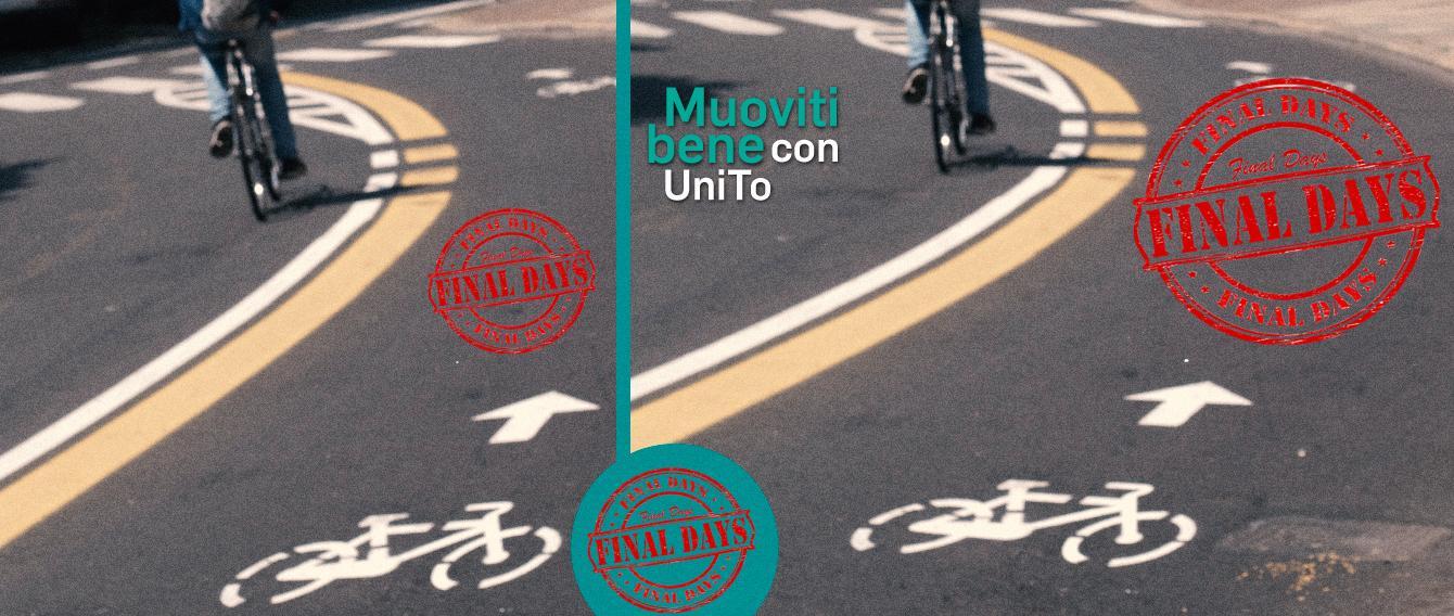 ciclista su pista ciclable