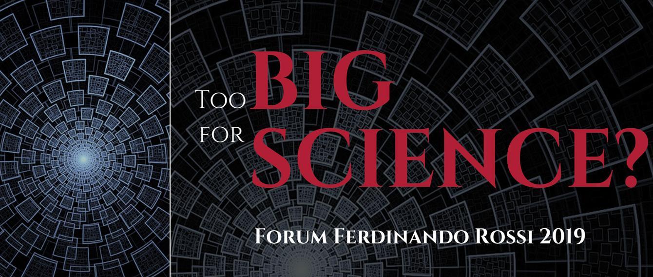 su sfondo nero scritta in rosso FORUM FERDINANDO ROSSI 2019