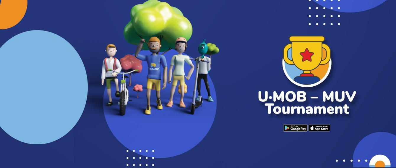 logo dell'evento su sfondo colorato - U-Mob - MUV Tournament